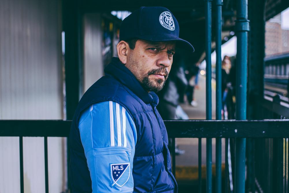 An NYCFC fan. (Photo courtesy of Sebastian Ramirez)