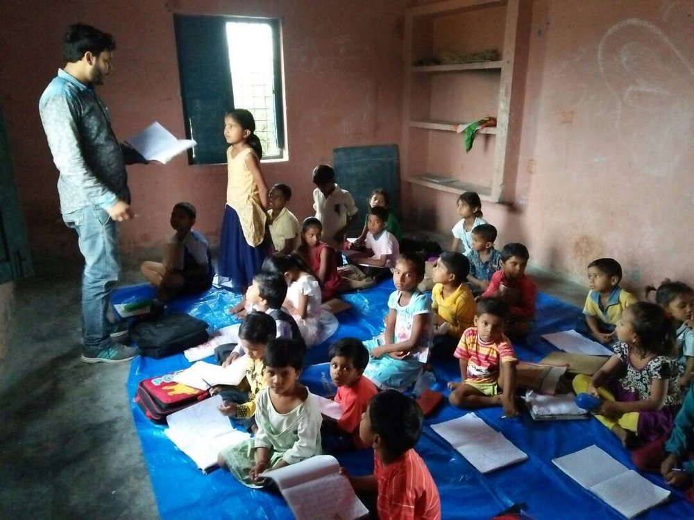It's early days for our start-up classroom in Village Khunibar