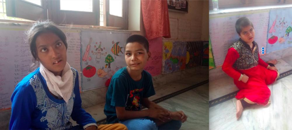 arrar, Ayush and Rabiya at Kotdwara