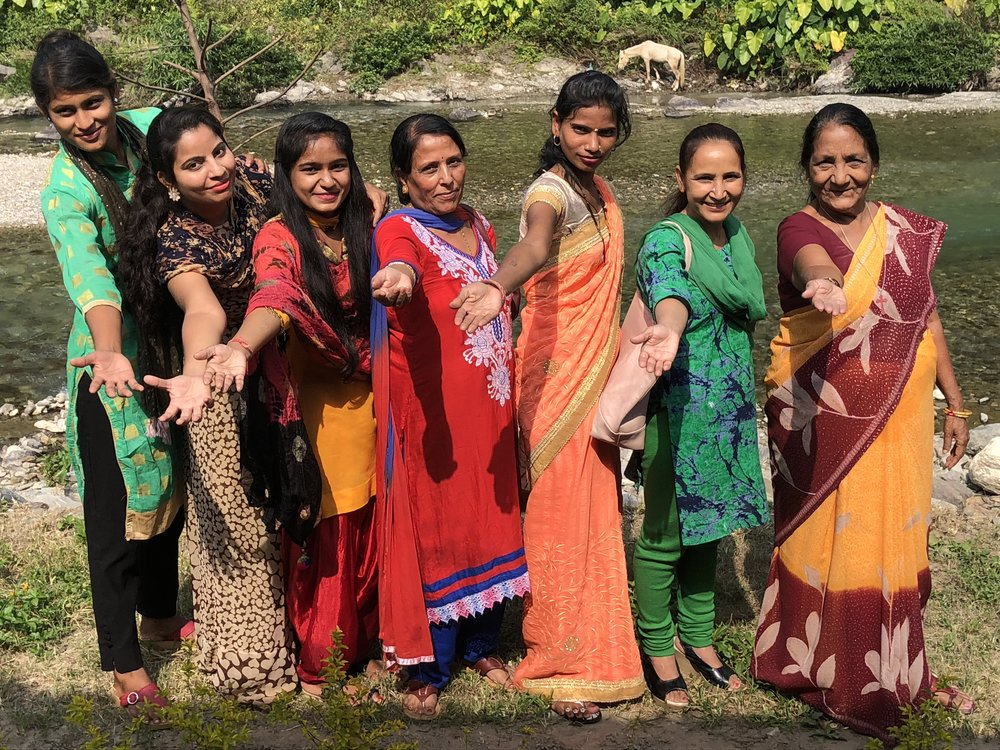 Some of the beautiful girls from the 'Project Help India' staff and teaching team.