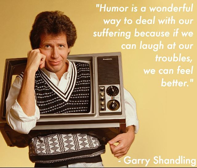 Listen to #garryshandling and laugh away! #laughterheals