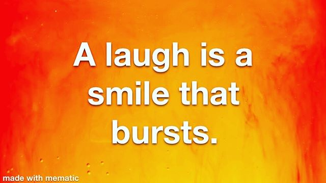 Smile more and laugh often! #laughterheals