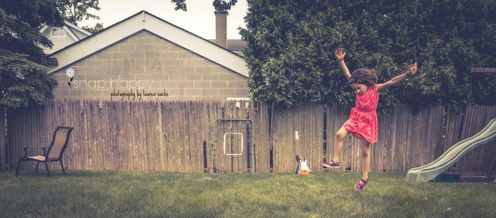 Cartwheels through the grass. Ah, summertime! -