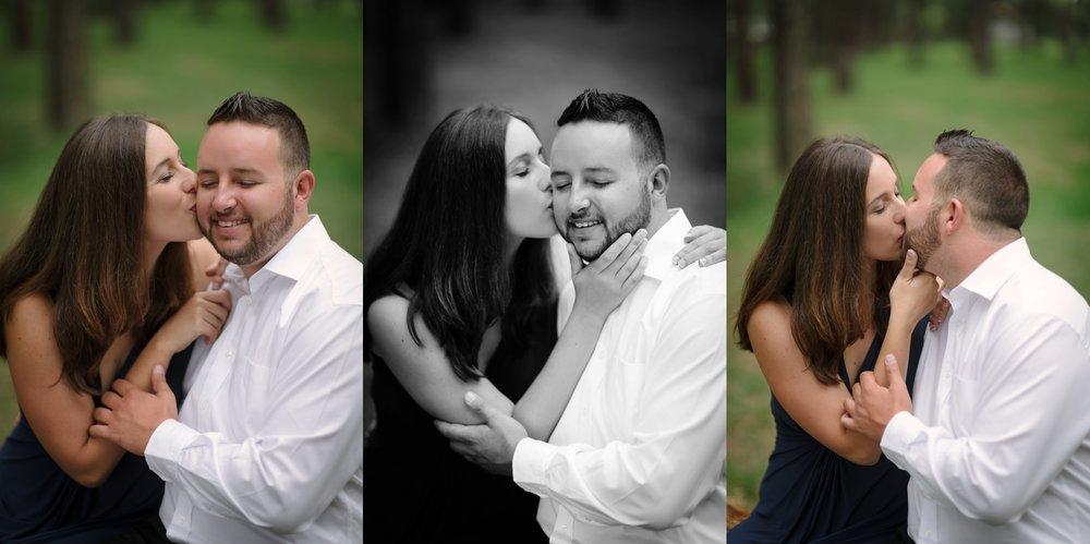 Couple kissing, engagement photos, engagement photography, e-session, engagement session