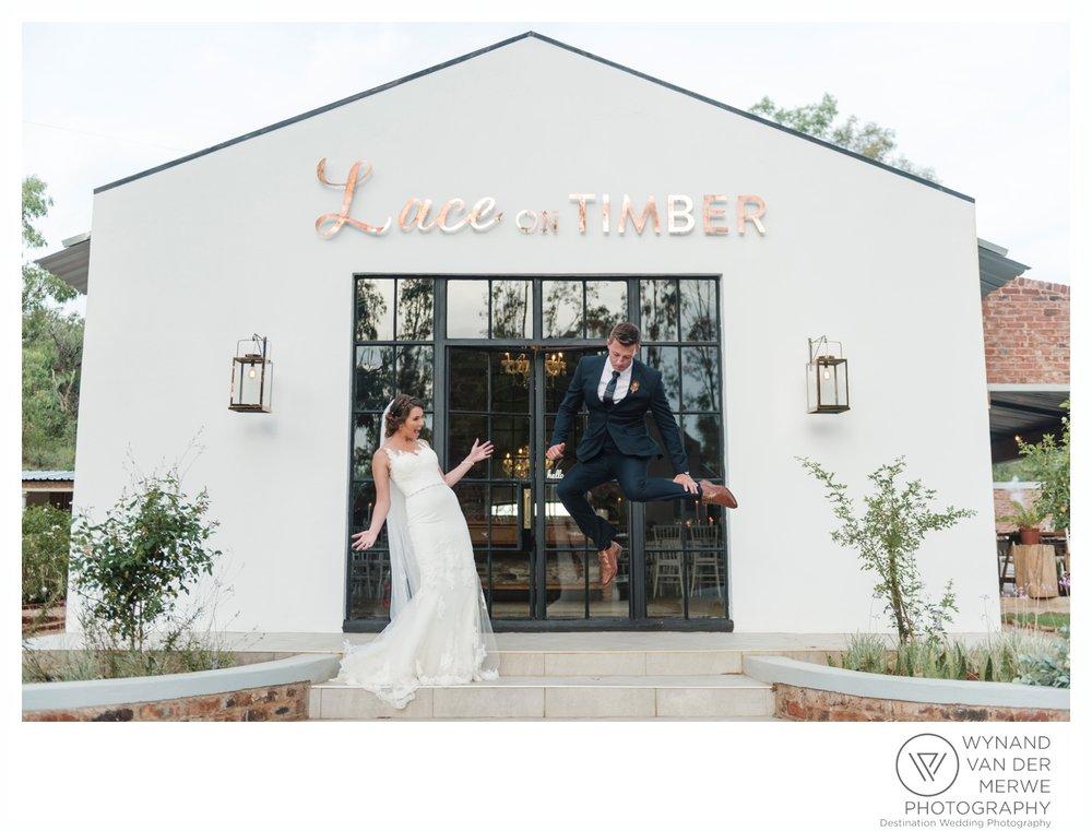 Beautiful Lace on Timber Wedding