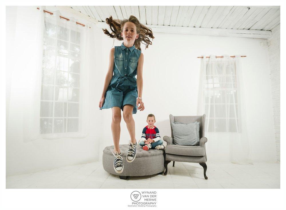 Colorful family shoot in studio