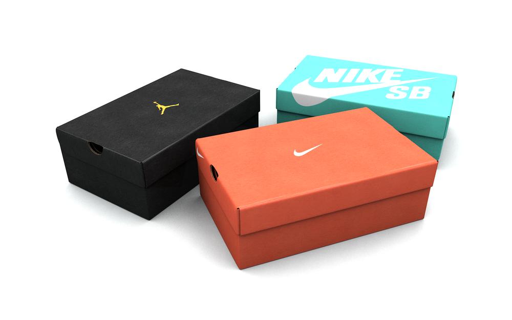 Nike Shoe Box Maya
