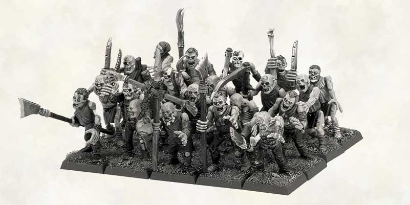 Warhammer Age Of Sigmar Blog article featuring undead zombies of the Death Grand Alliance