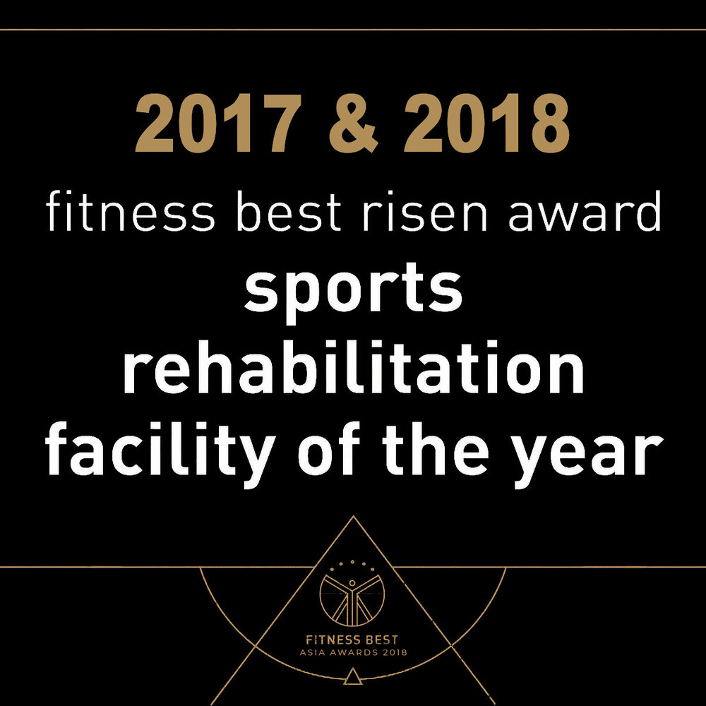 WINNER 2018 Sports Rehabilitation Facility of the Year in Asia    WINNER 2017 Sports Rehabilitation Facility of the Year in Asia