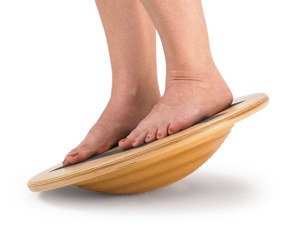 The wobble board is a great tool to develop flexibility, balance, and coordination.