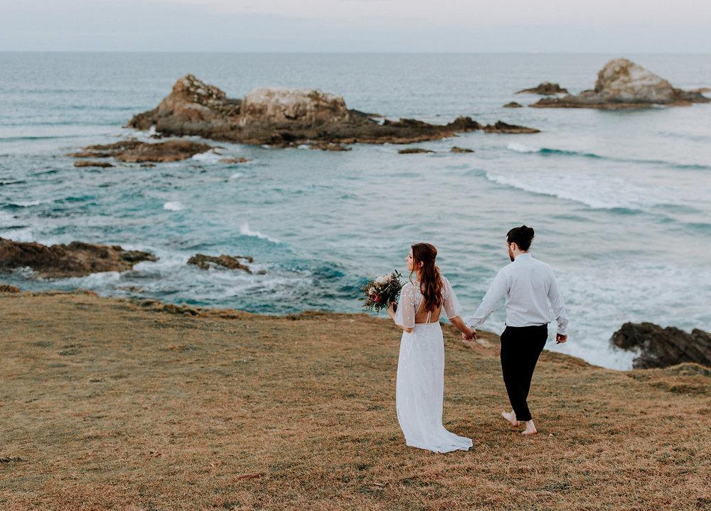 Broken Head Elopement - An intimate Byron Bay adventure elopement