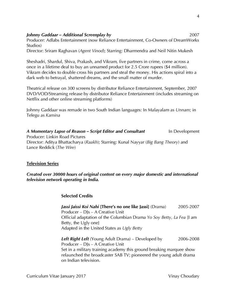 united states curriculum vitae