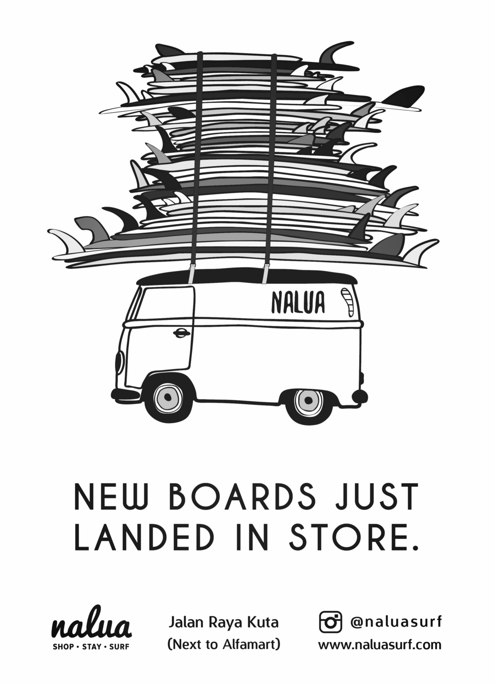 surfboards lombok nalua