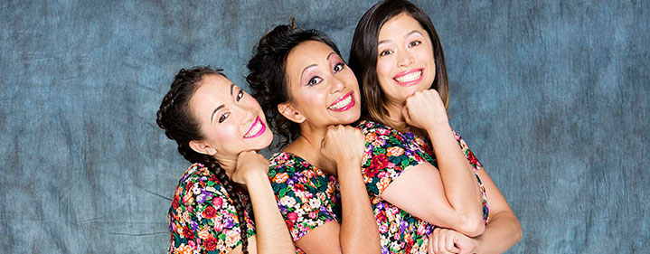 The cast of Single Asian Female by Michelle Law. Image via QTIX.
