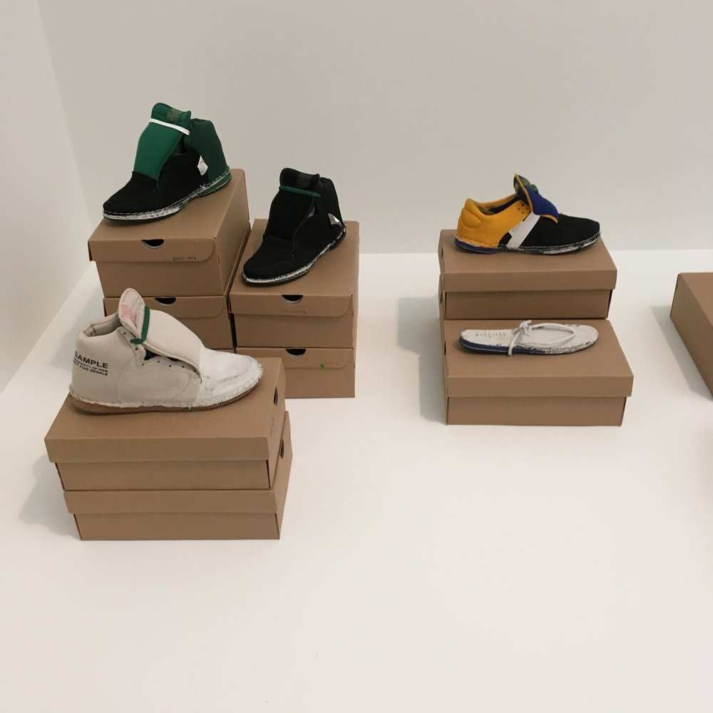 Inside-out shoes by Elisa van Joolen, reminding us to look beneath the surface when it comes to our purchasing choices.