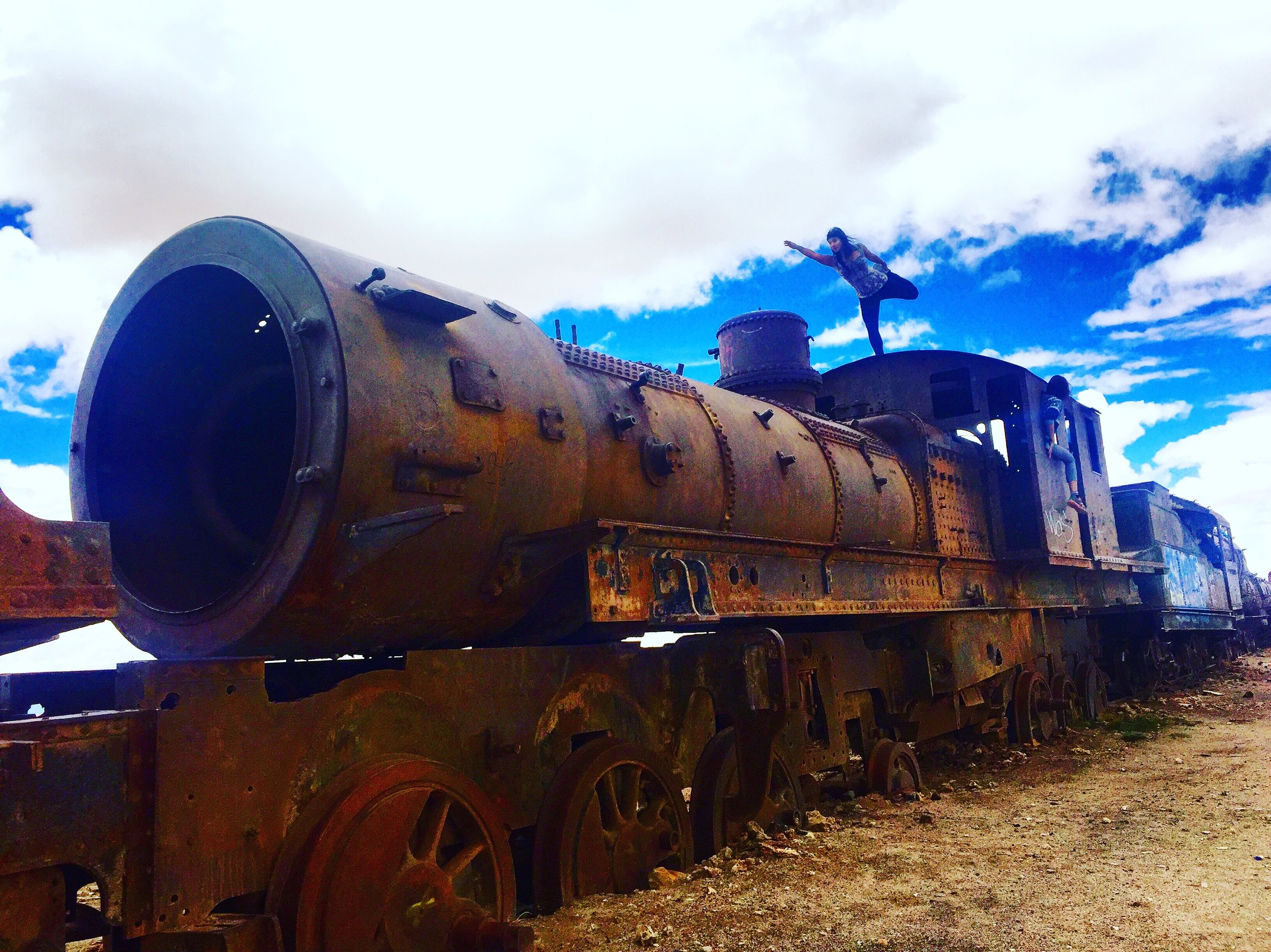 Train Graveyard is one of the first attractions in the tour