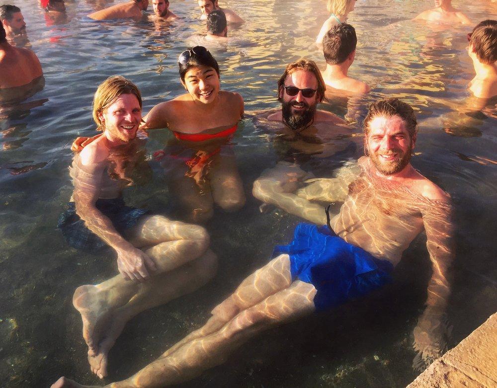 Enjoying the Termas de Polques hot springs