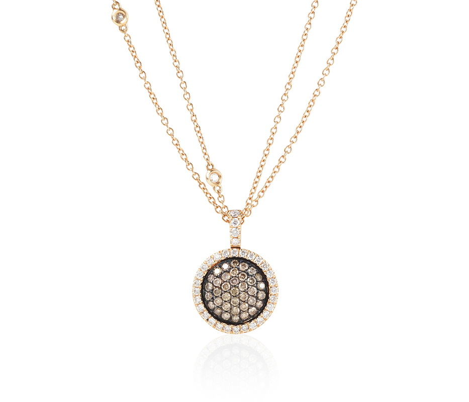 Venezia Rose Gold Pendant – Medium