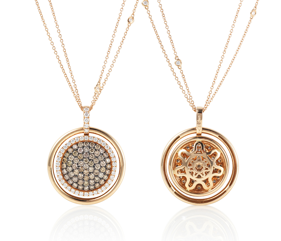 Venezia Rose Gold Pendant – Large