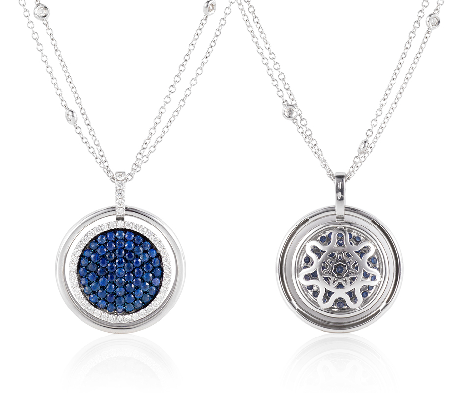 Venezia Sapphire Pendant –Large