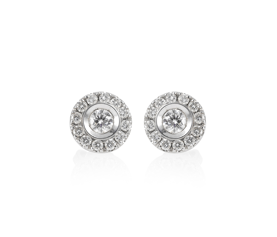 Venezia White Gold Earrings