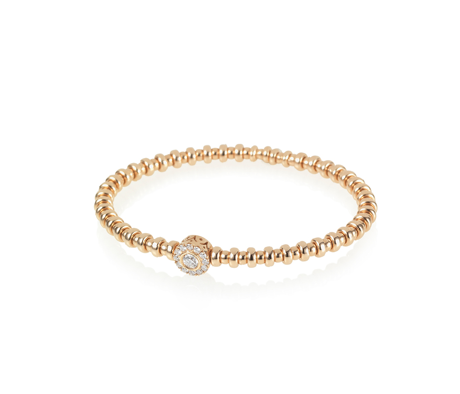Rose Gold & White Diamond Flexi Bracelet