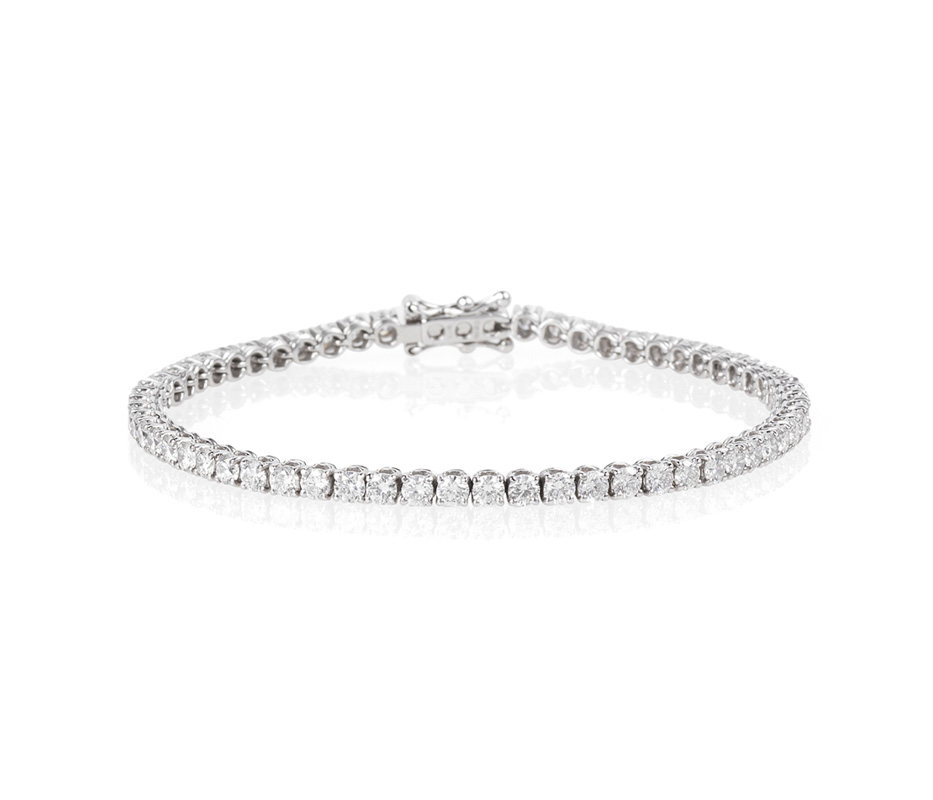 Venezia White Diamond Tennis Bracelet