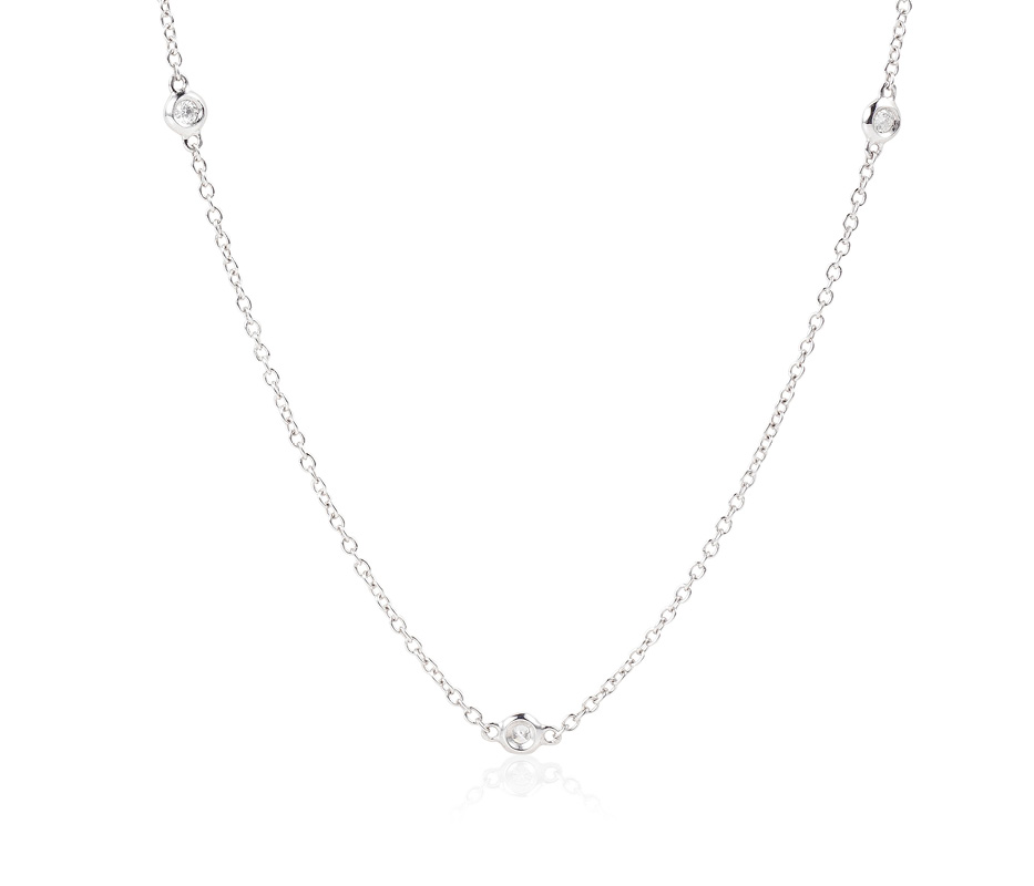 Venezia White Diamonds by the Yard Necklace