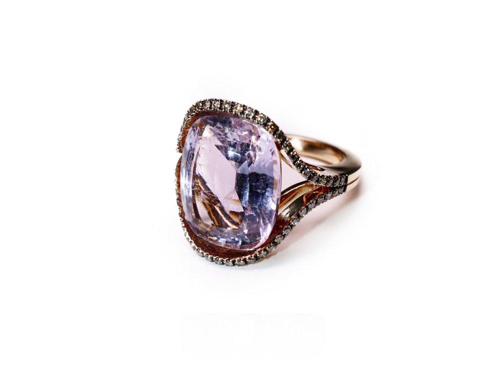 Moritz Amethyst & Cognac Diamonds