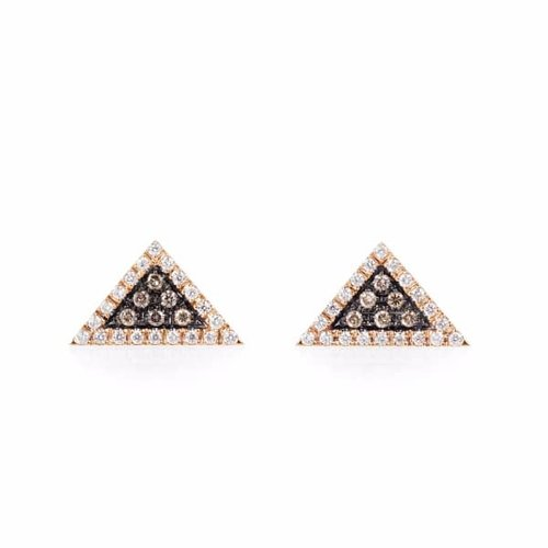 diamond trillion and web oro p yellow gold grande vrai earrings products