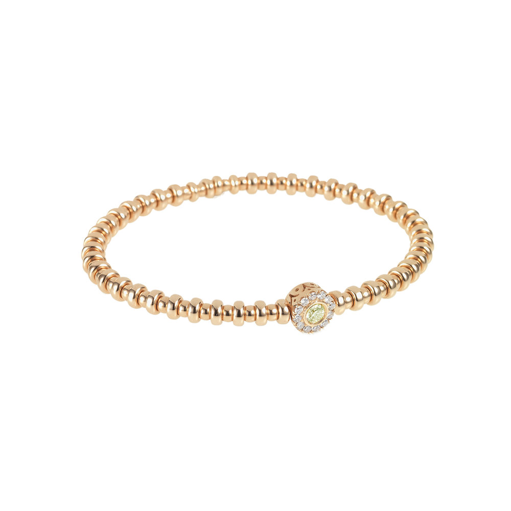 Yellow Gold, White Diamond & Yellow Sapphire Flexi Bracelet