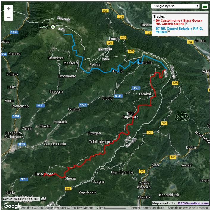 From Castelmonte to Mount Matajur