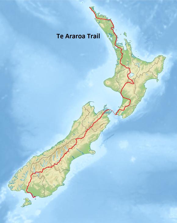 L' intero tracciato su mappa