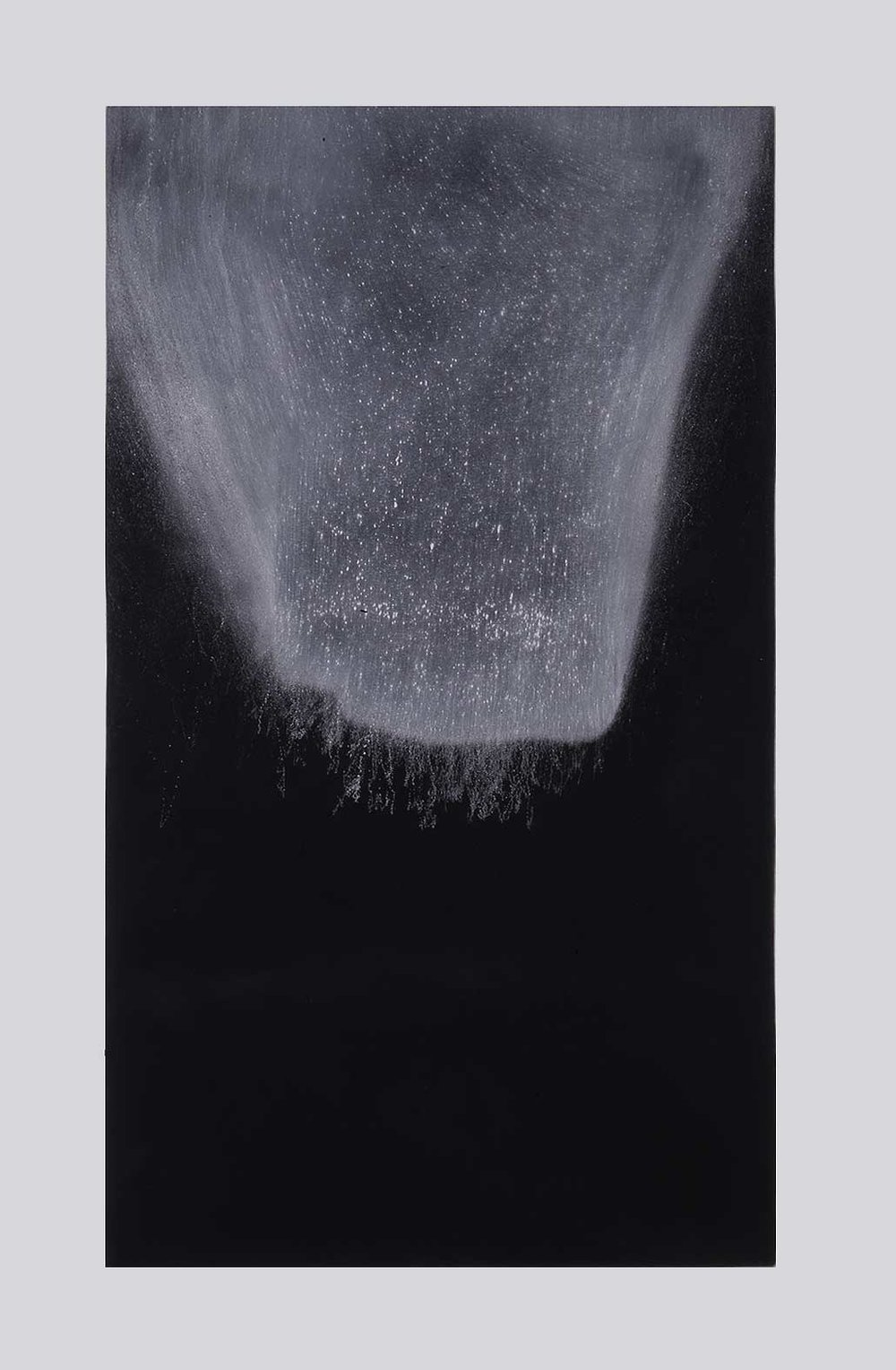 ENCROACHING VISTA  1997  limestone powder on carbon deposit  114.4 x 76.3 cm    (private collection UK)
