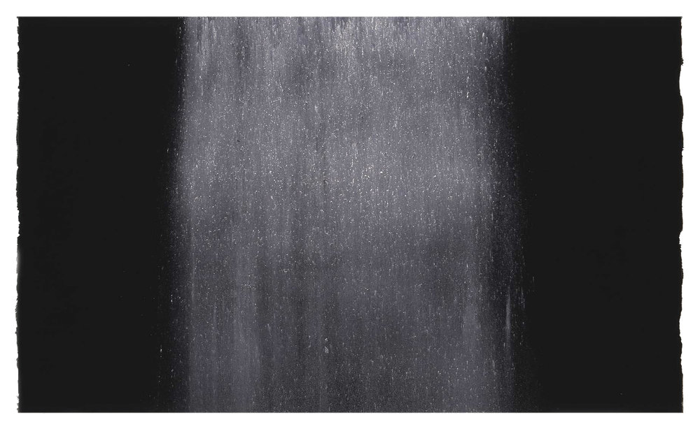 NOURISHING  1998   limestone powder on carbon deposit  77.0 x 55.7 cm   (private collection, UK)