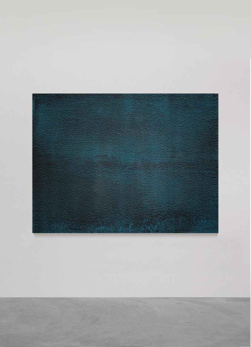 ONE MORNING WE'LL SLIP INTO A HARBOUR WE'VE NEVER KNOWN (I)  after Olav H. Hauge, 2015  aqueous polyester and pigment dispersal on panel  121.0 x 162.5 x 5.0 cm  (private collection UK)