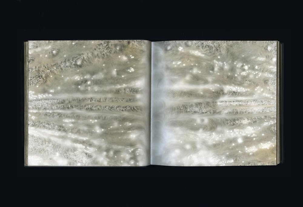CARBON  2007–17  carbon deposit on bound paper, pp.19-20  20.0 x 40.0 cm