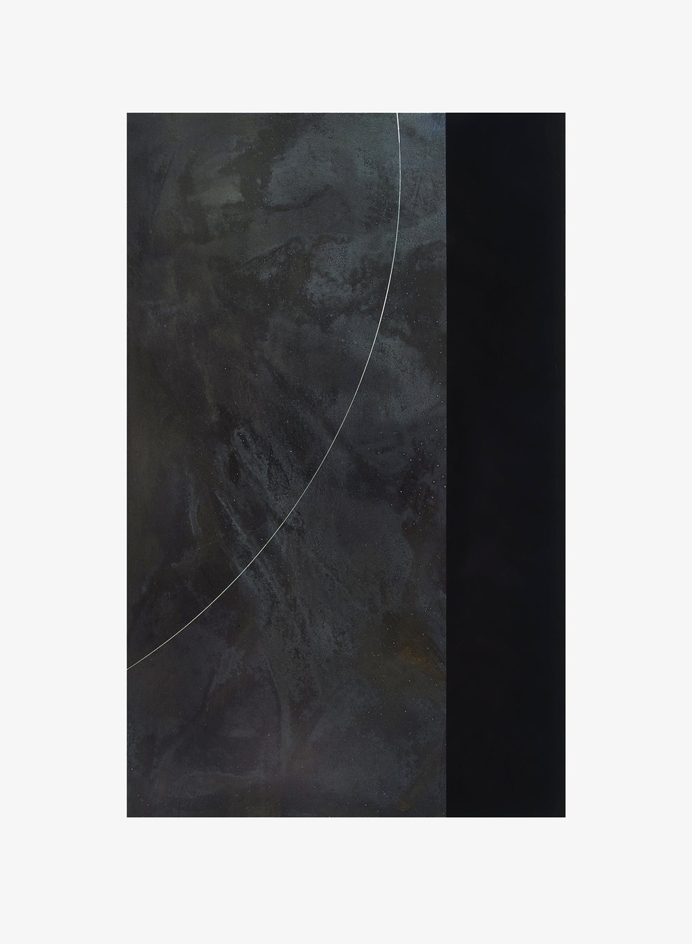 DRIFT (I) 2002  carbon deposit, oxidised zinc and graphite  84.2 x 65.3 cm   (private collection UK)