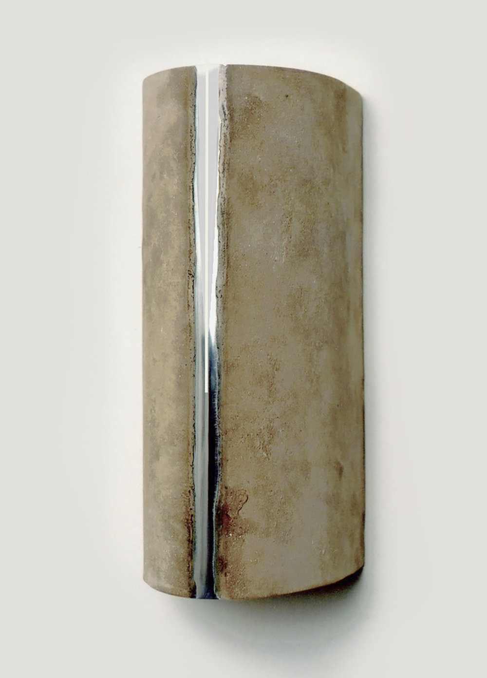 PROJECTING PORTAL (I) 2001  limestone powder on zinc  21.6 x 9.4 x 10.3   (private collection)