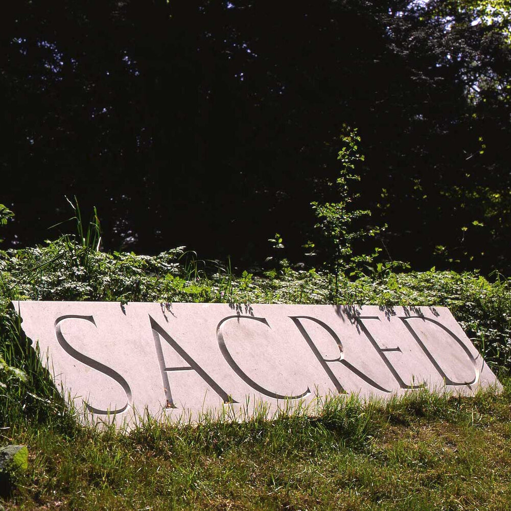 IN STILLNESS AND IN SILENCE  Sacred   1992  Nabresina marble  55.0 x 250.0 x 5.0 cm    installation: New Art Centre, Roche Court, Wiltshire UK, 2000 – 2003
