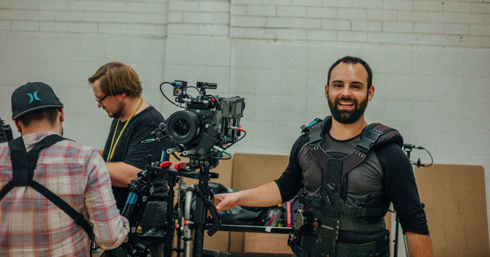 Our Steadicam operator Glenn Clayton continues to be the most aggressively happy person on set.