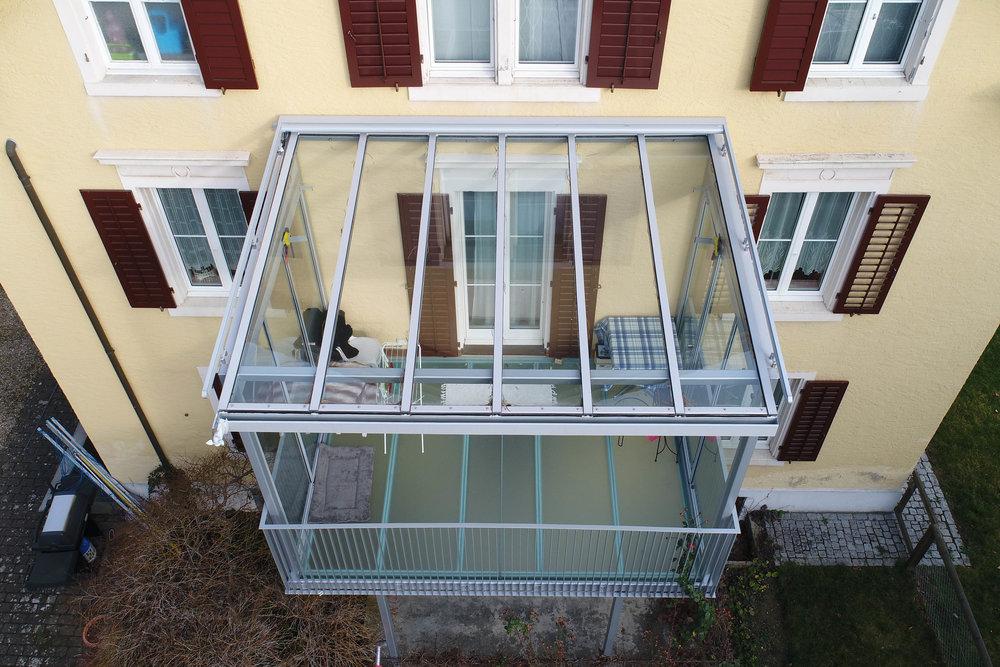Glas Balkon