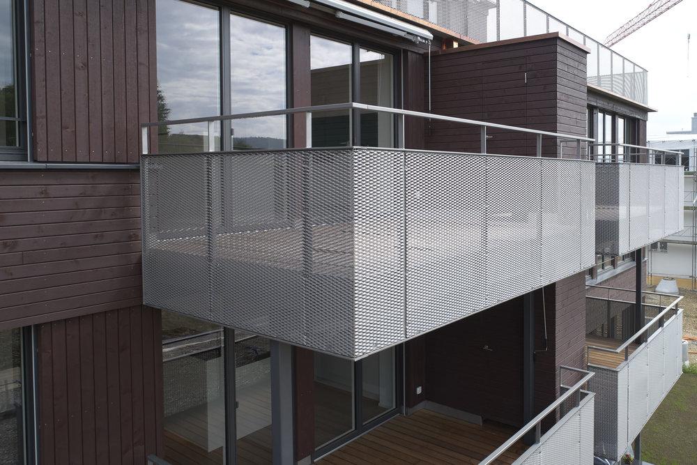 Streckmetallgitter-Balkone