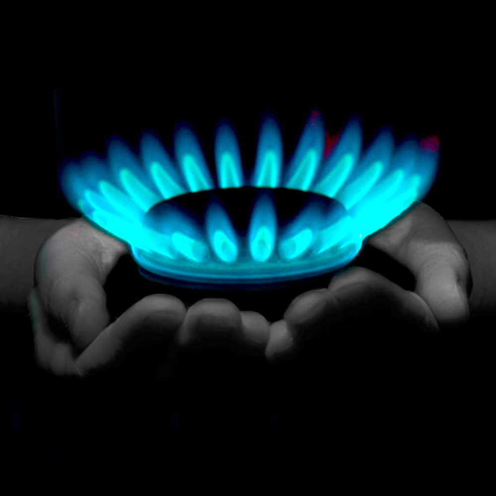 Gas Flames to illustrate heating services