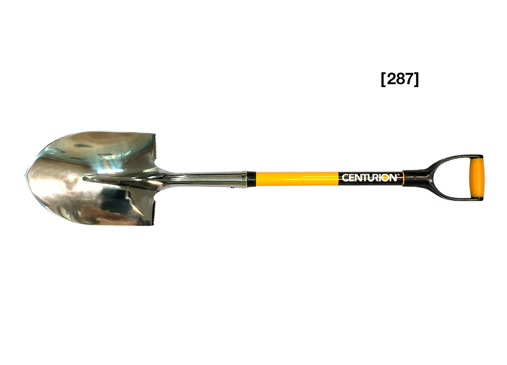 Stainless Steel D-Grip Round Point Shovel [ 287 ]