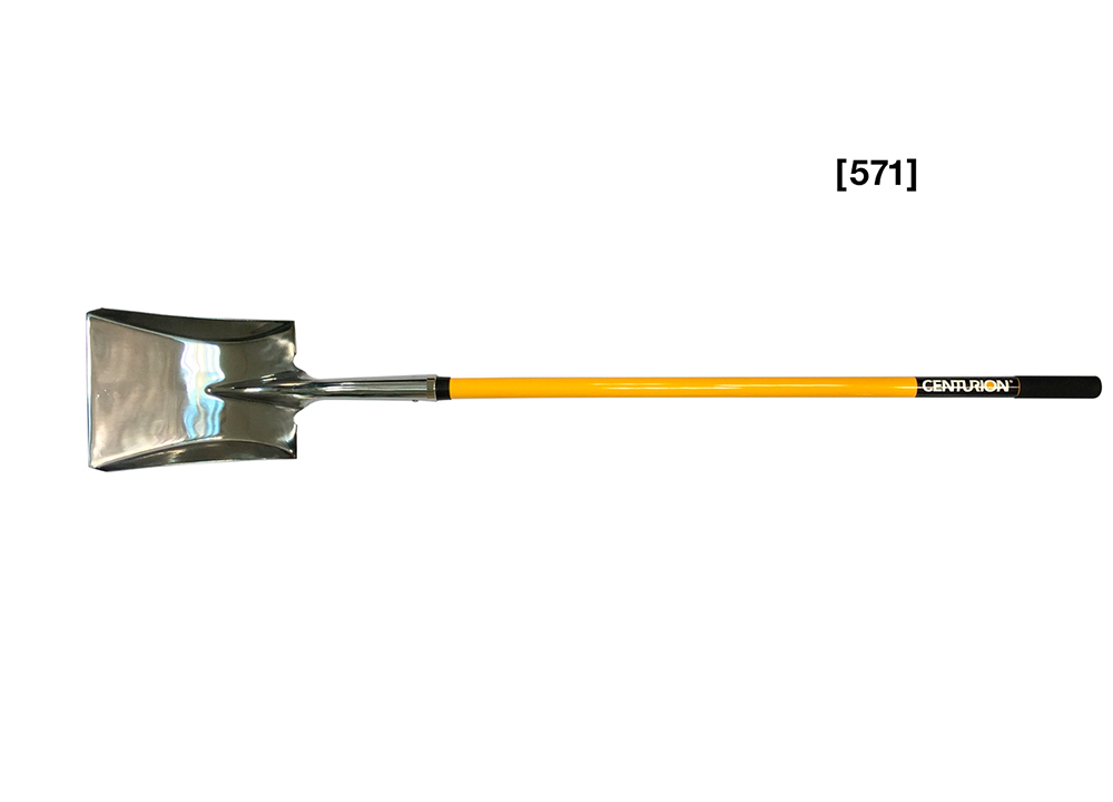 Stainless Steel Long Handle Square Point Shovel  [ 571 ]