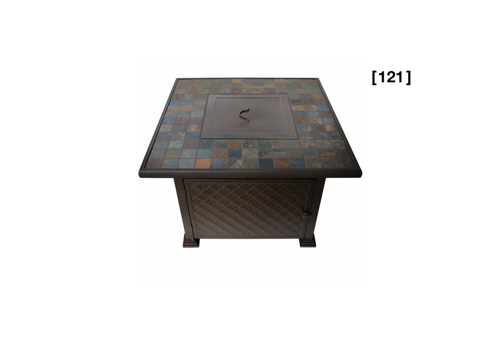 Stone Gas Fire Pit Table [ 121 ]