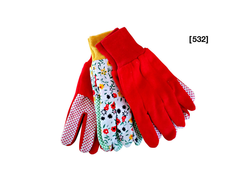 Cotton Gloves With PVC Grip Palm Dots [532]