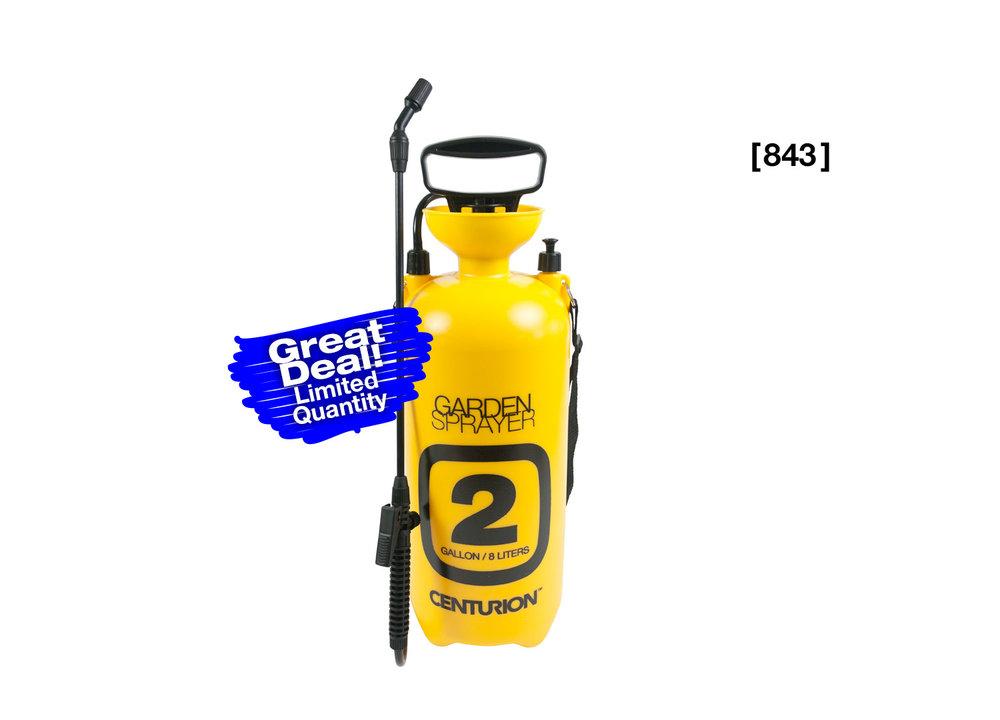 Yellow 2 Gallon Multi-Purpose Garden Sprayer [843]