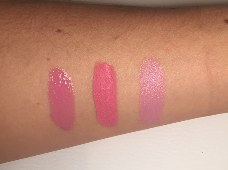 Left to right: Glacier Gloss, Lips Matter, Posh Pout.